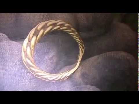 Metal detecting finds Wiltshire Uk viking gold ring